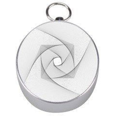 Rotation Rotated Spiral Swirl Silver Compasses