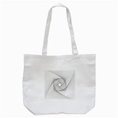Rotation Rotated Spiral Swirl Tote Bag (white)