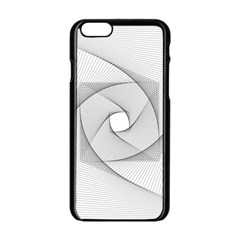 Rotation Rotated Spiral Swirl Apple Iphone 6/6s Black Enamel Case by BangZart