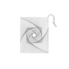 Rotation Rotated Spiral Swirl Drawstring Pouches (xs)