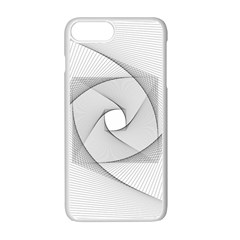 Rotation Rotated Spiral Swirl Apple Iphone 7 Plus Seamless Case (white)