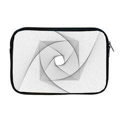 Rotation Rotated Spiral Swirl Apple Macbook Pro 17  Zipper Case by BangZart