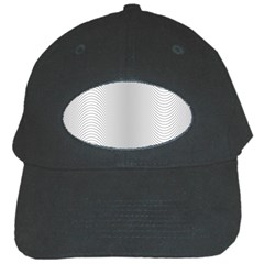 Monochrome Curve Line Pattern Wave Black Cap