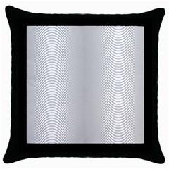 Monochrome Curve Line Pattern Wave Throw Pillow Case (black)
