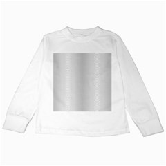 Monochrome Curve Line Pattern Wave Kids Long Sleeve T Shirts
