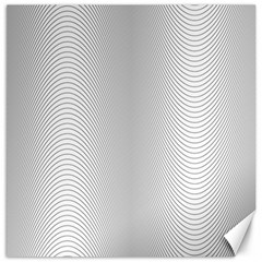 Monochrome Curve Line Pattern Wave Canvas 16  X 16   by BangZart