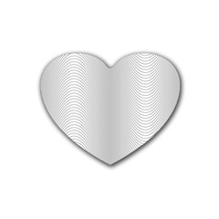 Monochrome Curve Line Pattern Wave Rubber Coaster (heart)