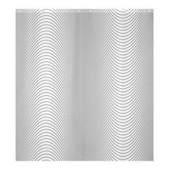 Monochrome Curve Line Pattern Wave Shower Curtain 66  X 72  (large)