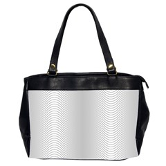 Monochrome Curve Line Pattern Wave Office Handbags (2 Sides)