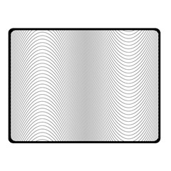 Monochrome Curve Line Pattern Wave Fleece Blanket (small)