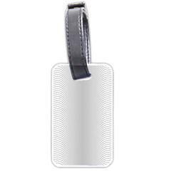 Monochrome Curve Line Pattern Wave Luggage Tags (one Side)