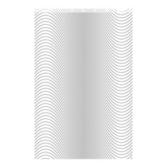 Monochrome Curve Line Pattern Wave Shower Curtain 48  X 72  (small)  by BangZart