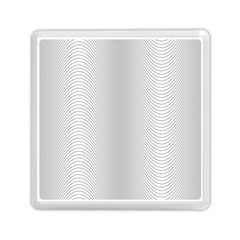 Monochrome Curve Line Pattern Wave Memory Card Reader (square)