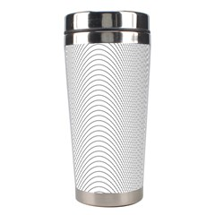 Monochrome Curve Line Pattern Wave Stainless Steel Travel Tumblers