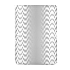 Monochrome Curve Line Pattern Wave Samsung Galaxy Tab 2 (10 1 ) P5100 Hardshell Case