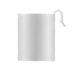Monochrome Curve Line Pattern Wave Drawstring Pouches (medium)