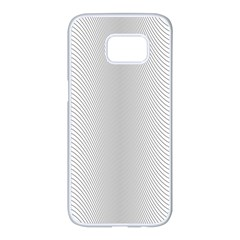 Monochrome Curve Line Pattern Wave Samsung Galaxy S7 Edge White Seamless Case
