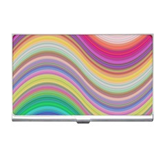 Wave Background Happy Design Business Card Holders