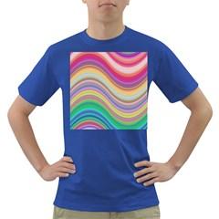 Wave Background Happy Design Dark T Shirt