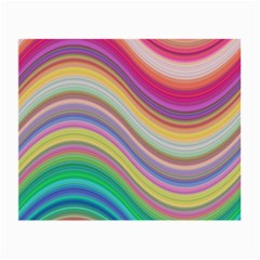 Wave Background Happy Design Small Glasses Cloth
