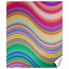 Wave Background Happy Design Canvas 8  X 10  by BangZart
