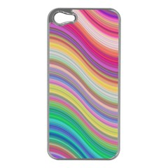 Wave Background Happy Design Apple Iphone 5 Case (silver)