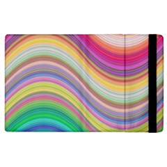 Wave Background Happy Design Apple Ipad 3/4 Flip Case
