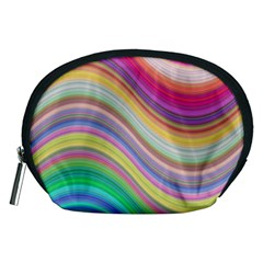 Wave Background Happy Design Accessory Pouches (medium)
