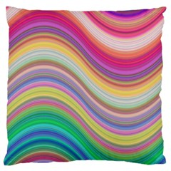 Wave Background Happy Design Standard Flano Cushion Case (one Side)