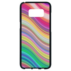 Wave Background Happy Design Samsung Galaxy S8 Black Seamless Case