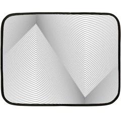 Background Pattern Stripe Double Sided Fleece Blanket (mini)