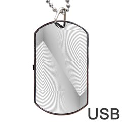 Background Pattern Stripe Dog Tag Usb Flash (two Sides)