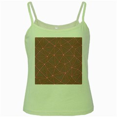 Triangle Background Abstract Green Spaghetti Tank