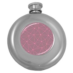 Triangle Background Abstract Round Hip Flask (5 Oz)