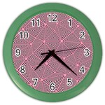 Triangle Background Abstract Color Wall Clocks Front