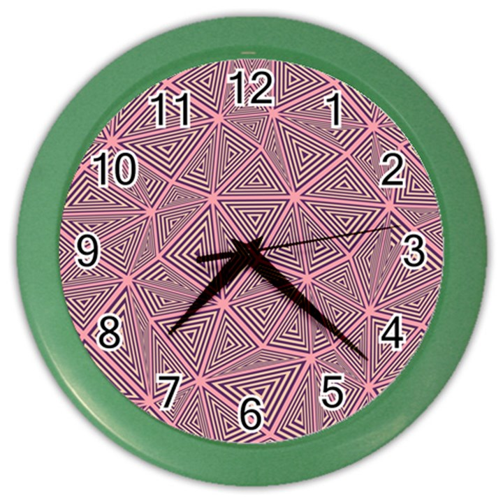 Triangle Background Abstract Color Wall Clocks