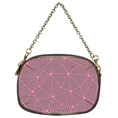 Triangle Background Abstract Chain Purses (two Sides)