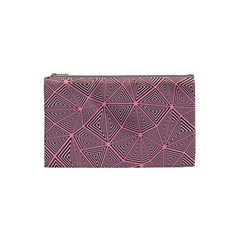 Triangle Background Abstract Cosmetic Bag (small)
