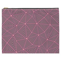 Triangle Background Abstract Cosmetic Bag (xxxl)
