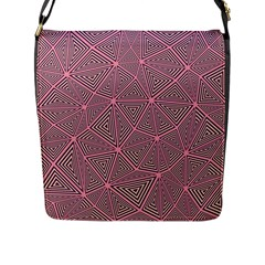 Triangle Background Abstract Flap Messenger Bag (l)