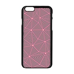 Triangle Background Abstract Apple Iphone 6/6s Black Enamel Case