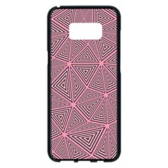 Triangle Background Abstract Samsung Galaxy S8 Plus Black Seamless Case