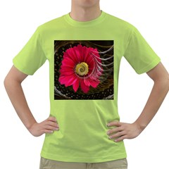 Fantasy Flower Fractal Blossom Green T Shirt