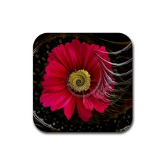 Fantasy Flower Fractal Blossom Rubber Square Coaster (4 Pack)  by BangZart