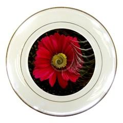 Fantasy Flower Fractal Blossom Porcelain Plates by BangZart