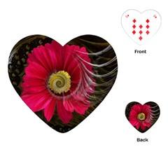 Fantasy Flower Fractal Blossom Playing Cards (heart)