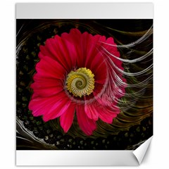 Fantasy Flower Fractal Blossom Canvas 8  X 10