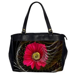 Fantasy Flower Fractal Blossom Office Handbags (2 Sides)
