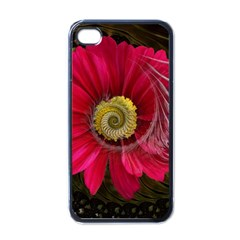 Fantasy Flower Fractal Blossom Apple Iphone 4 Case (black) by BangZart
