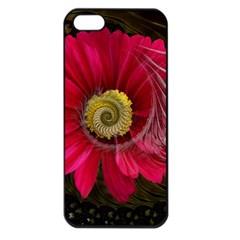 Fantasy Flower Fractal Blossom Apple Iphone 5 Seamless Case (black) by BangZart